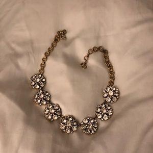 JCrew Jeweled Flower Necklace